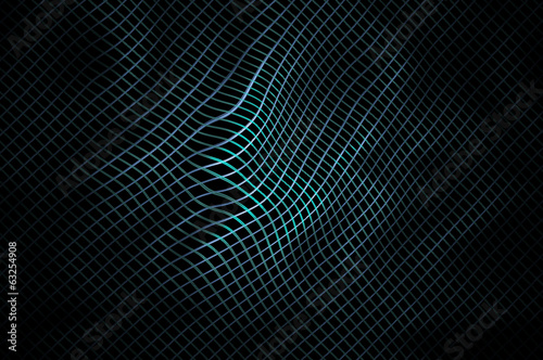 Bending highlighted mesh pattern J. Abstract background.