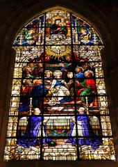 Vidriera de la catedral de Sevilla, España