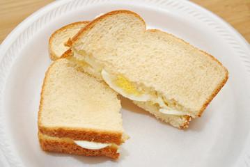 Delicious Egg Sandwich Cut in Half