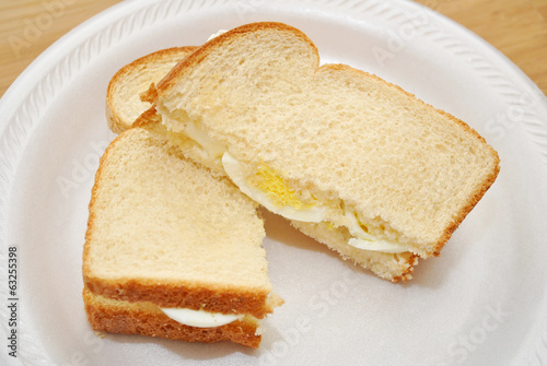 Delicious Egg Sandwich Cut in Half