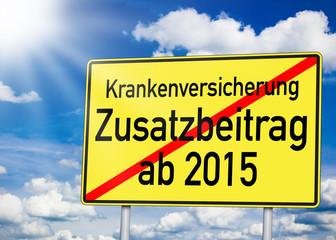 Wegweiser mit Zusatzbeitrag ab 2015