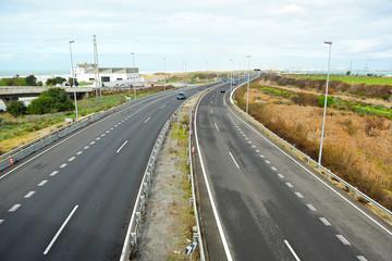 Autovía Cádiz San Fernando, Andalucía, España