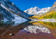 Maroon Bells national park in Falls, Aspen, CO
