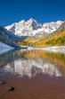 Maroon bells in colorful falls color, Aspen, Colorado