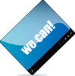 Video player for web with we can words
