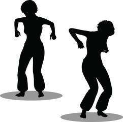 Dancer woman silhouette