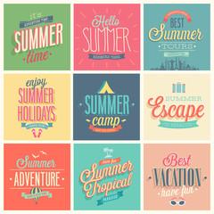 Summer set - labels and emblems.