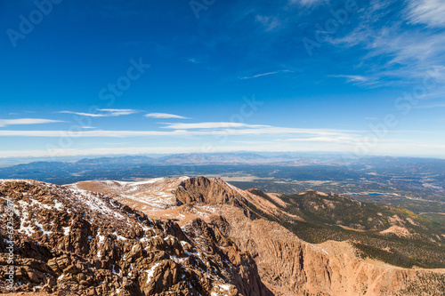 View from Pike Peak summit, Colorado Springs, CO