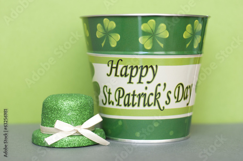 St. Patrick Tin and Leprechaun Hat