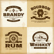 Vintage alcohol labels set - 63258567