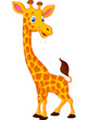 Happy giraffe cartoon