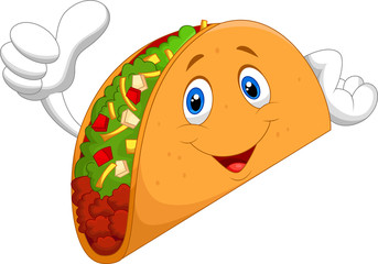 Taco cartoon giving thumb up
