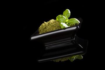 Luxurious green pesto.