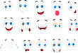 Cartoon of various face expressions - 63259158