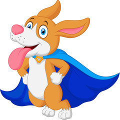 Cartoon Super Hero Dog Flying