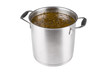 large saucepan with sorrel soup