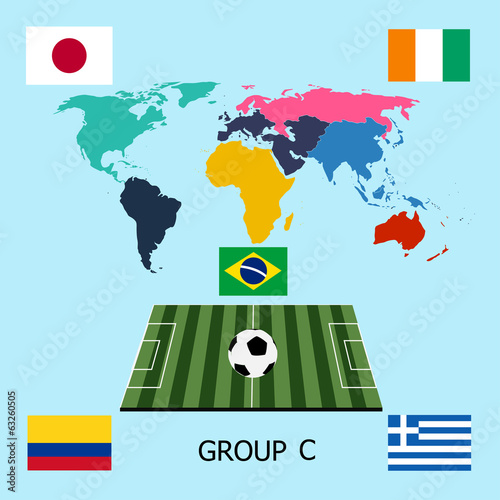 Group C - Colombia, Greece, Ivory Coast, Japan