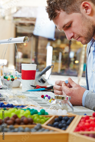 Man making apprenticeship as artisan