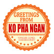 Greetings from Ko Pha Ngan stamp