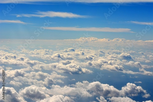 Beautiful White Cloud and Blue Sky