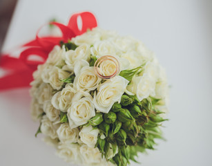 Beautiful bouquet of wedding flowers