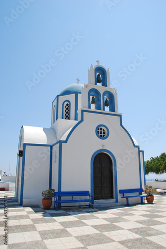 Orthodox church in Santorini Island - Greece