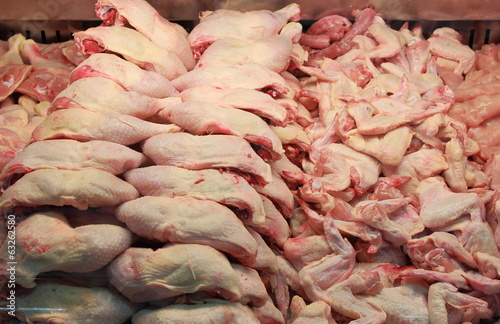 Chicken meat in a butcher shop