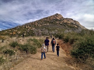 Family Hiking Outdoors, Cuyamaca State Park, San Diego, USA