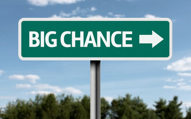 Big Chance road sign