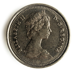 Quarter ( Canadian coin ) Vingt-cinq cents ( pièce canadienne )