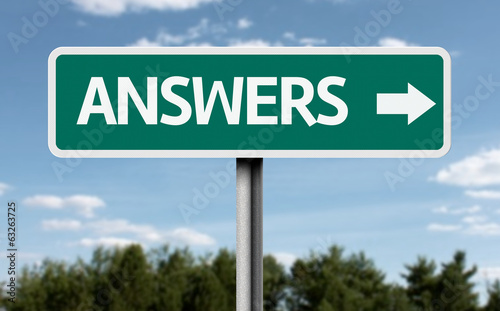 Answer road sign