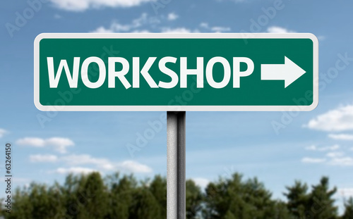 Workshop road sign