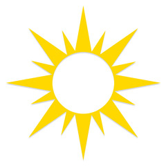 Abstract Stylish Sun Icon Isolated On White Background