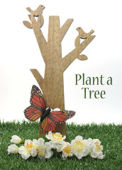 Happy Arbor Day, Plant a Tree with sample text
