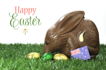 Happy Easter Australian style chocolate easter egg bunny Bilby