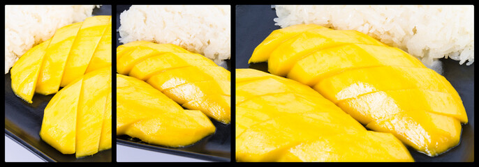 Sticky rice mango