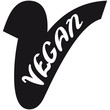 canvas print picture - V Vegan Logo