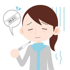 低体温に悩む女性