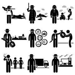Illegal Activity Crime Jobs Occupations Careers