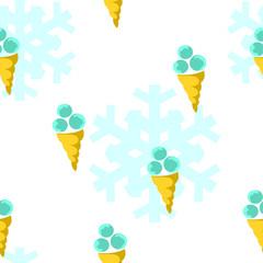 Seamless pattern: ice cream