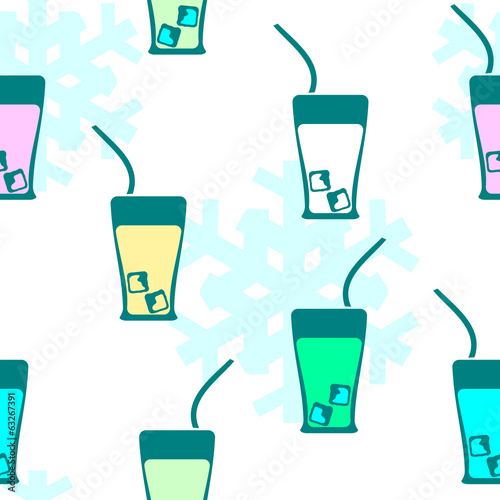 Seamless pattern: drink