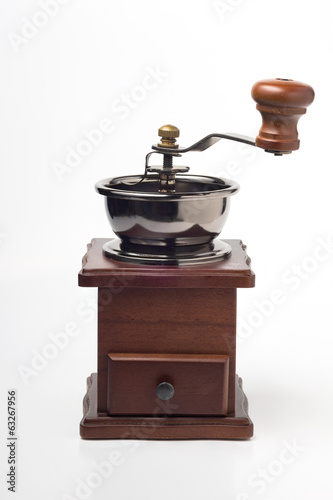 Manual coffee grinder.