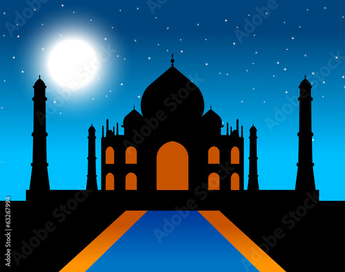 Taj Mahal by night