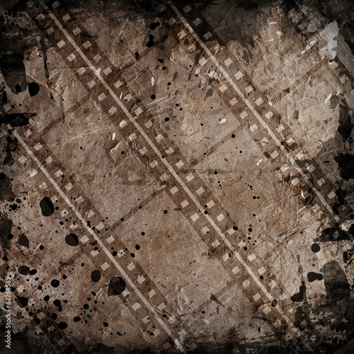 grunge background with film stripe