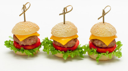 Miniburger als Fingerfood