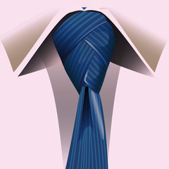 striped tie knot tied unusual