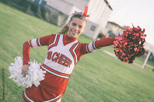Cheerleader in the Field