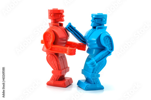 robot toy fighting - 63269388