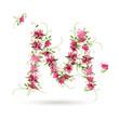 Floral letter M for your design