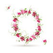 Floral letter O for your design